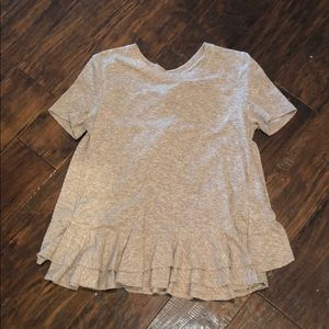 Altard State light brown top with ruffles